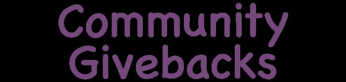 Community Givebacks